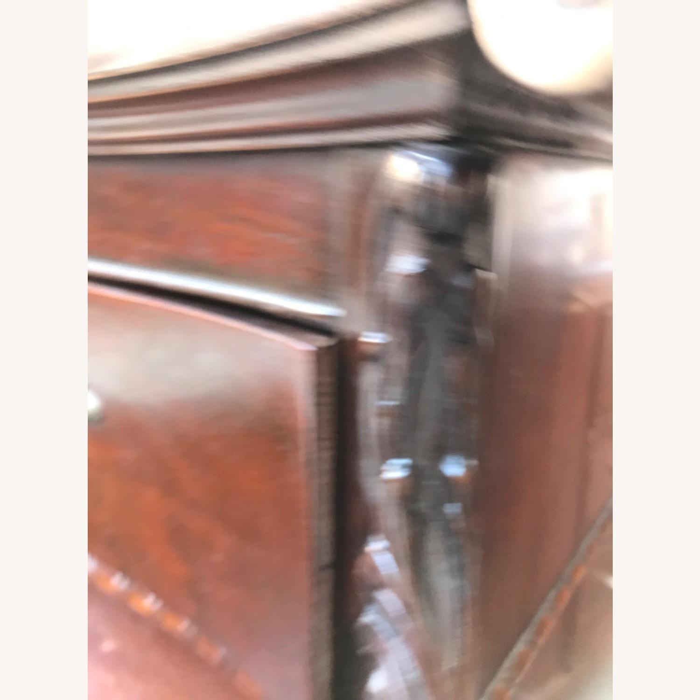 Antique 1900s Mahogany Dresser w/ Protection Glass - image-27