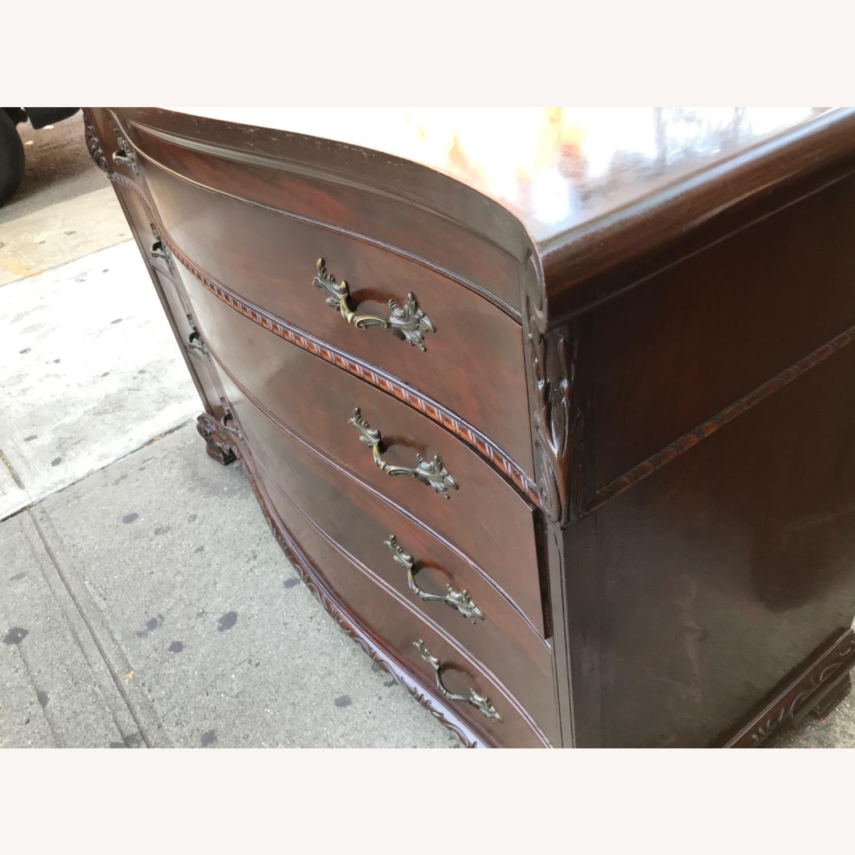 Antique 1900s Mahogany Dresser w/ Protection Glass - image-17
