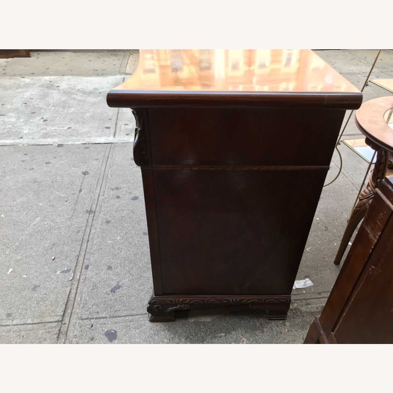 Antique 1900s Mahogany Dresser w/ Protection Glass - image-16