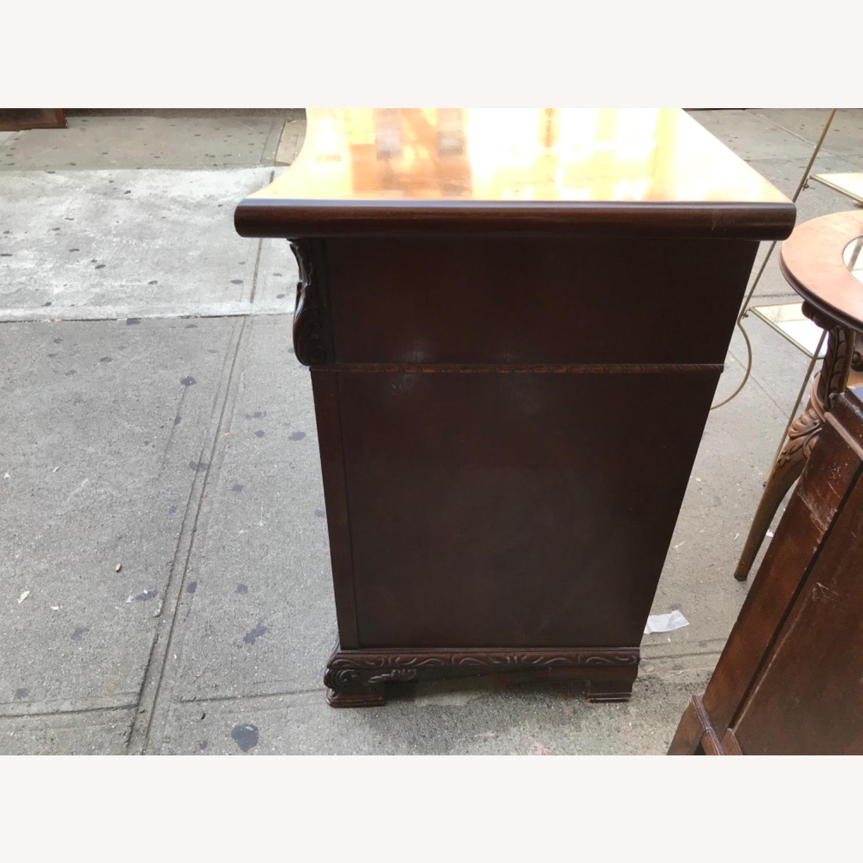 Antique 1900s Mahogany Dresser w/ Protection Glass - image-15