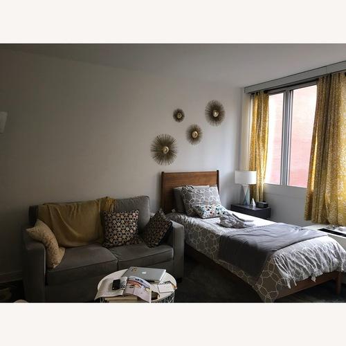 Used West Elm Mid-Century Acorn Twin Bed for sale on AptDeco