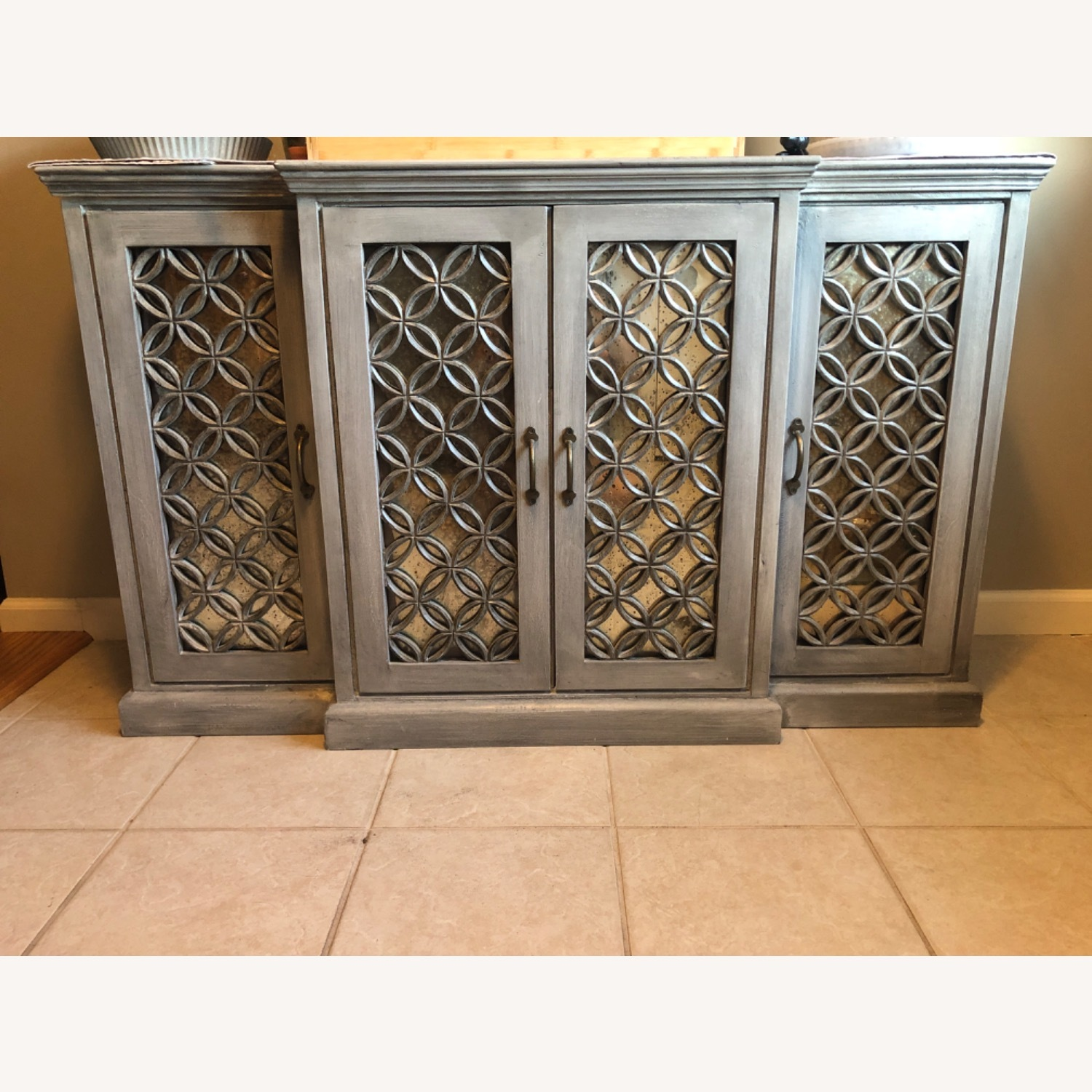 Side Board Storage with Mirrored Front - image-1