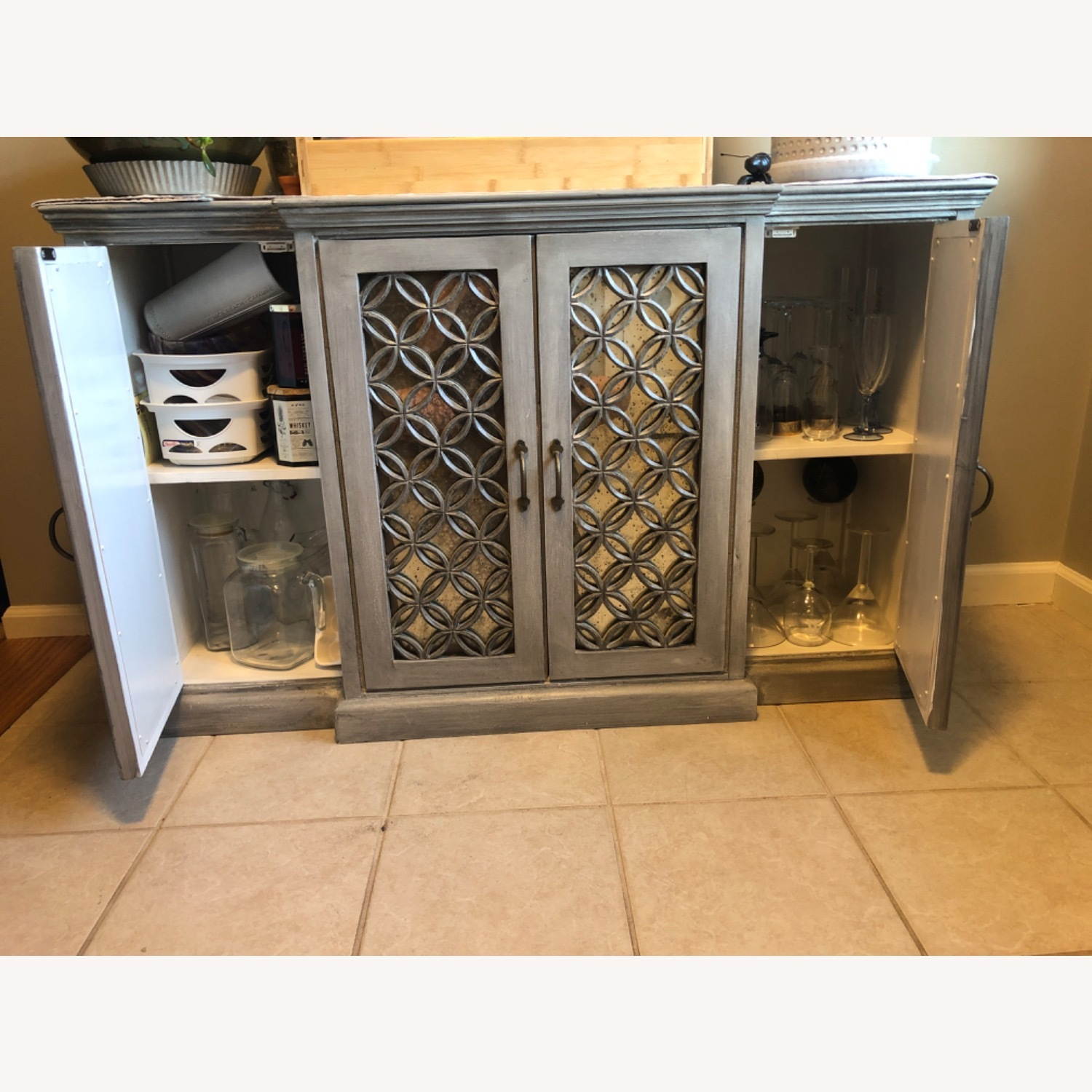 Side Board Storage with Mirrored Front - image-4