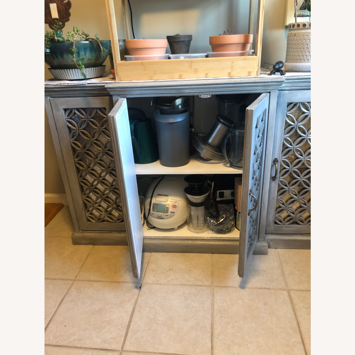 Side Board Storage with Mirrored Front - image-3