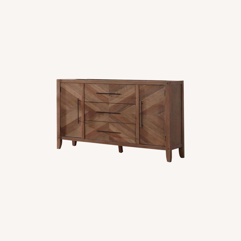 Modern Dresser In White Washed Finish - image-4