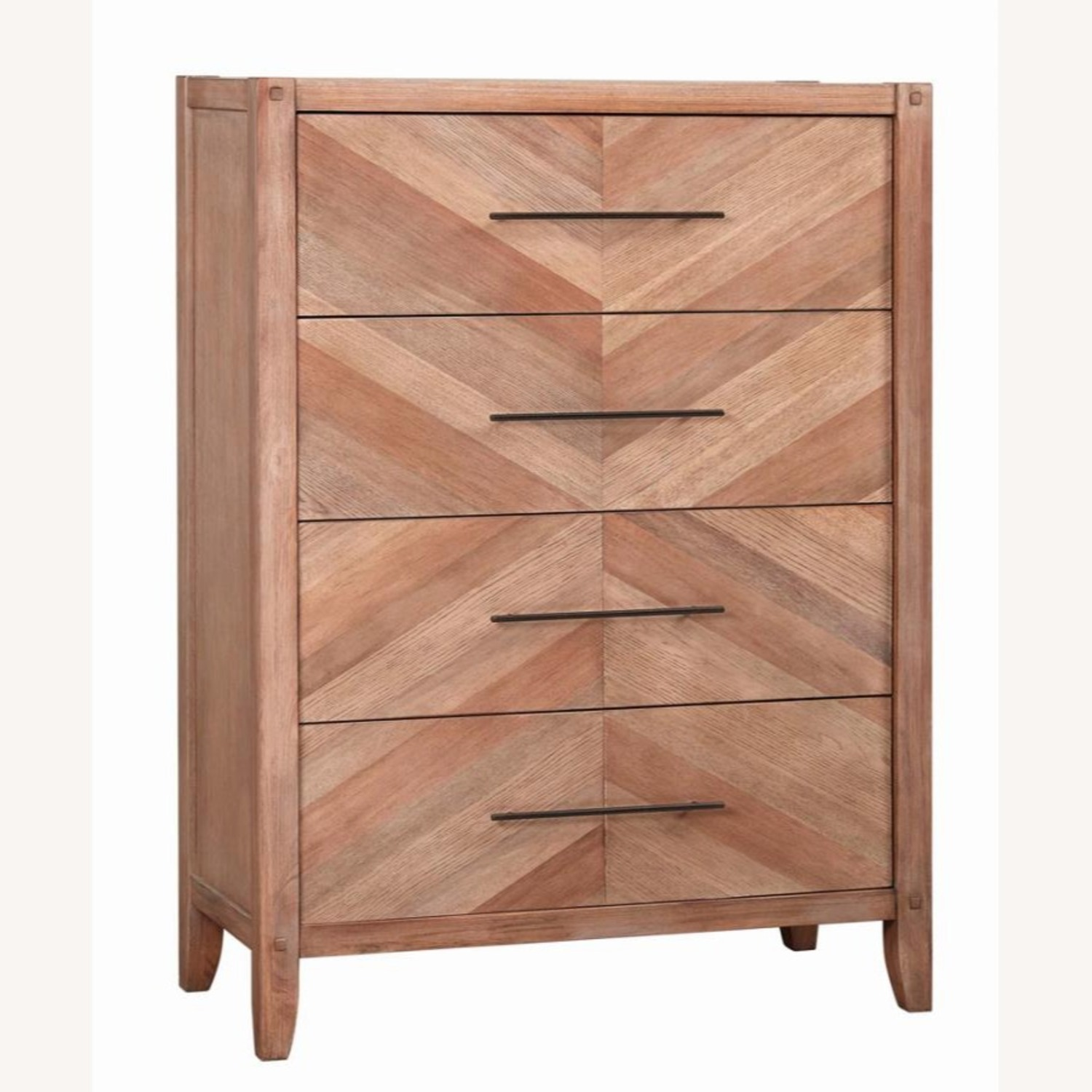 Modern Chest In Natural White Washed Finish - image-0