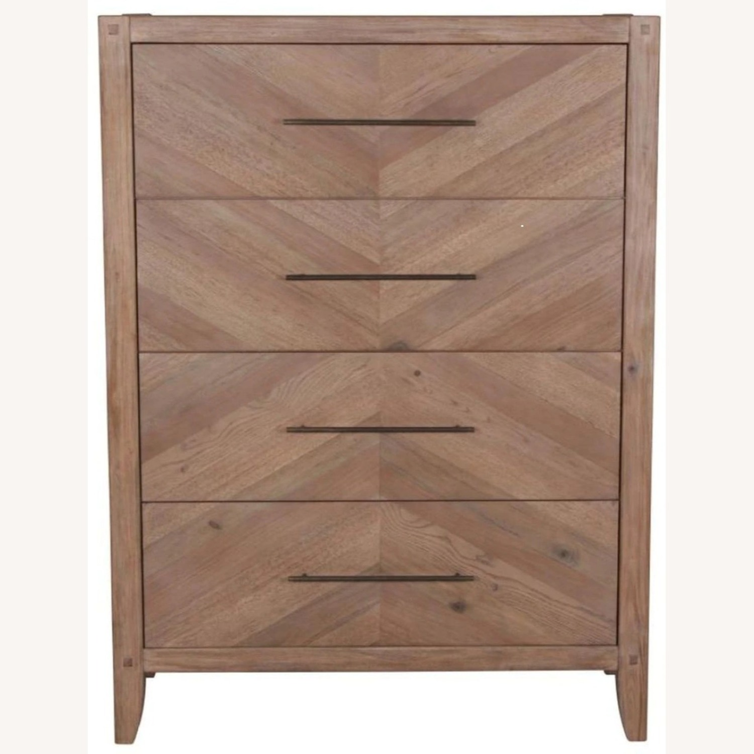 Modern Chest In Natural White Washed Finish - image-1