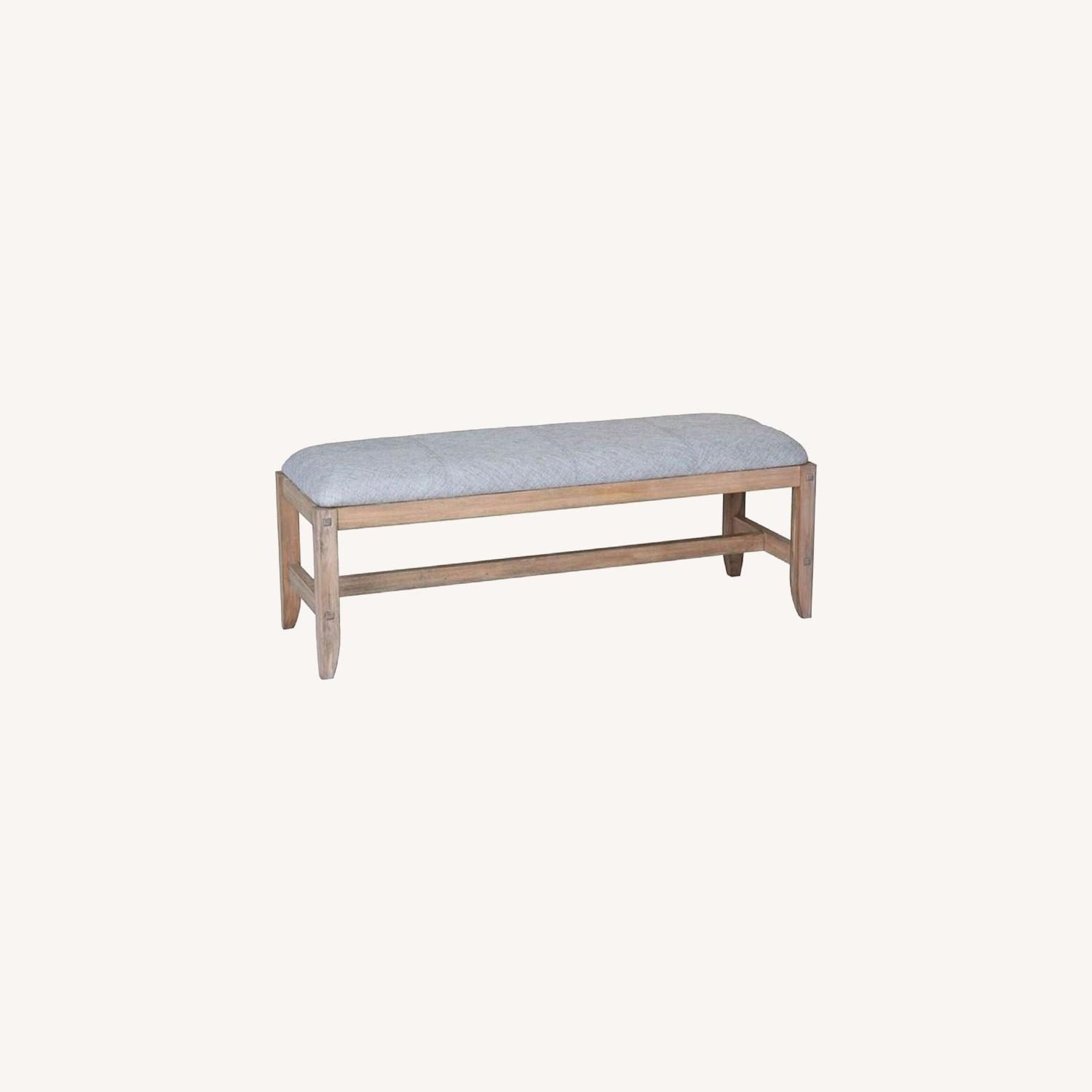 Bench In Natural White Washed Finish - image-5