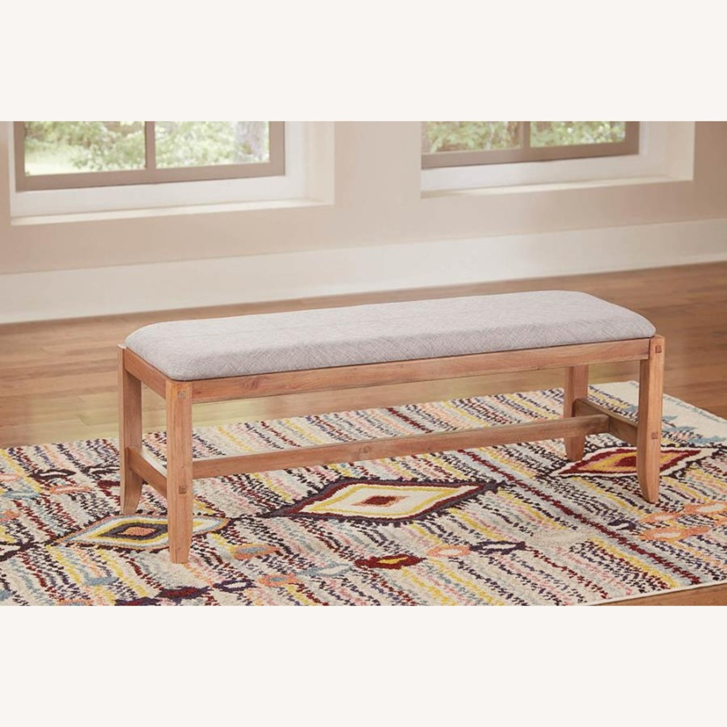 Bench In Natural White Washed Finish - image-3