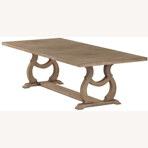 Used Dining Table In Barley Brown for sale on AptDeco