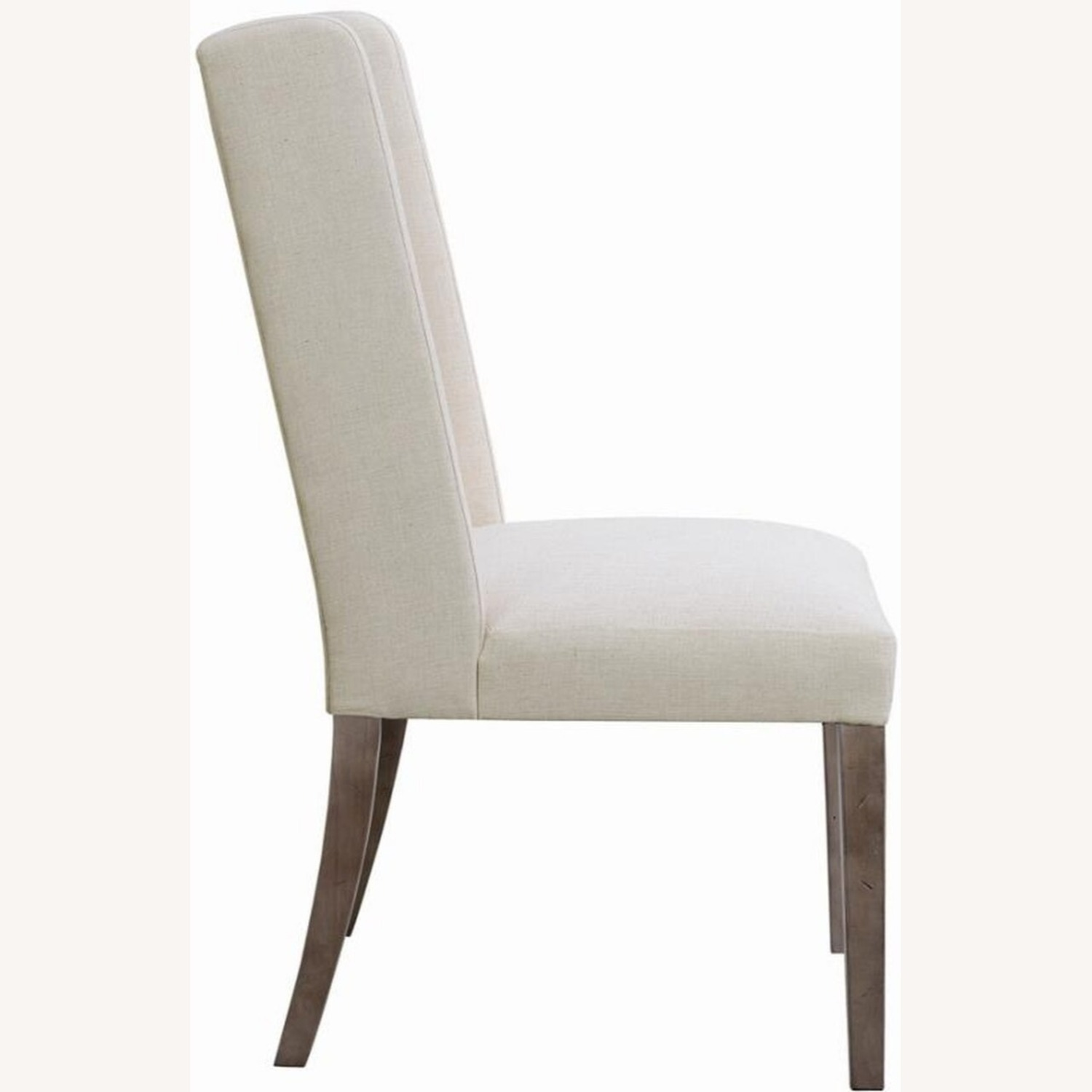 Transitional Side Chair In Beige Fabric - image-2