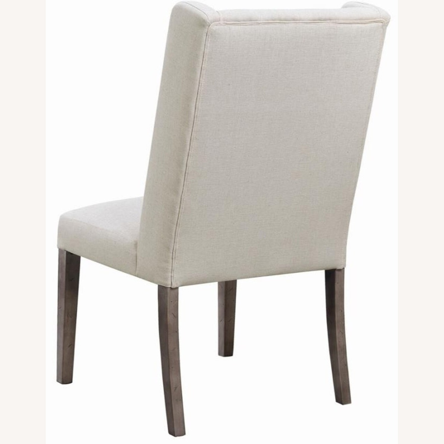 Transitional Side Chair In Beige Fabric - image-3