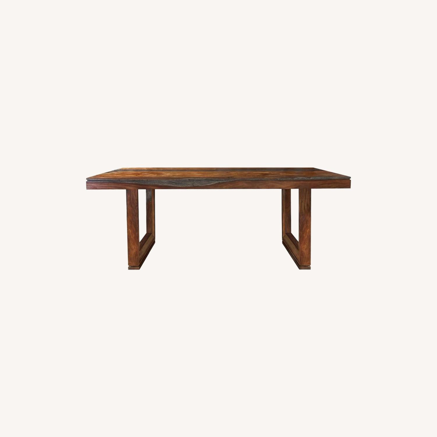 Rustic Dining Table In Grey Finish - image-3