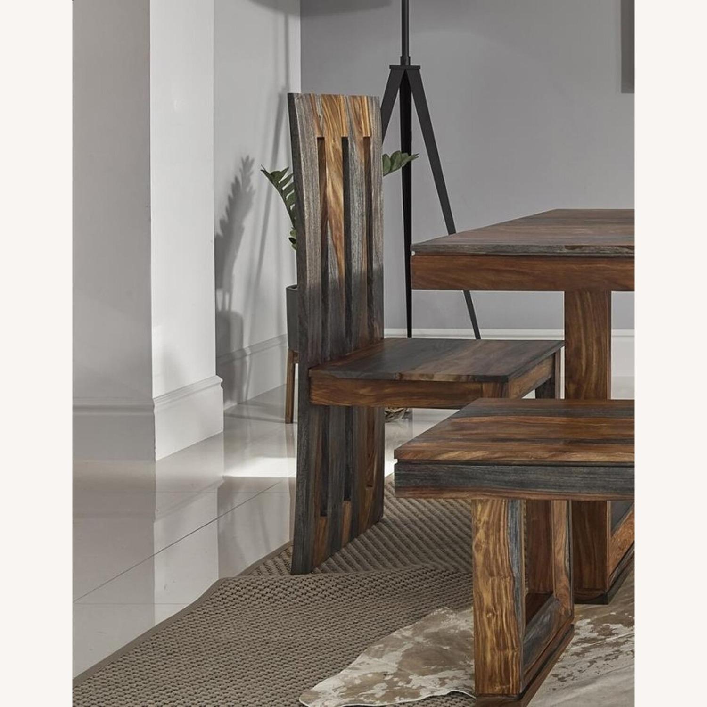 Stunning Side Chair In Grey Sheesham - image-2