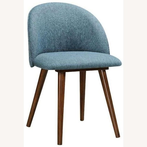 Used Mid-Century Side Chair In A Dark Walnut Finish for sale on AptDeco