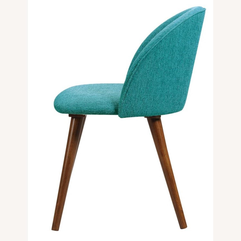 Mid-Century Side Chair In A Dark Walnut Finish - image-1