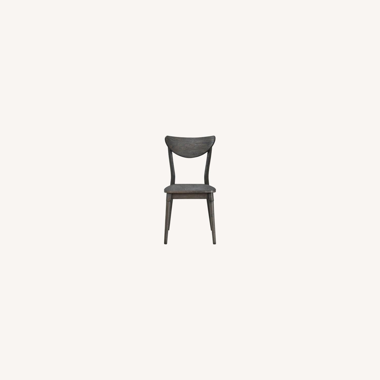 Modern Side Chair In Dark Grey Wood - image-5