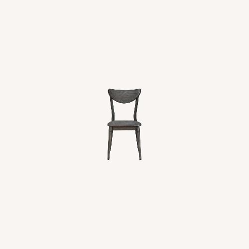 Used Modern Side Chair In Dark Grey Wood for sale on AptDeco