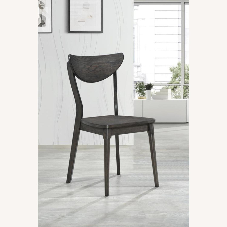 Modern Side Chair In Dark Grey Wood - image-3