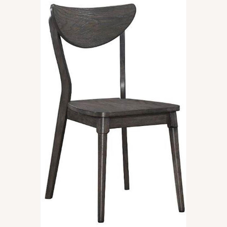 Modern Side Chair In Dark Grey Wood - image-0