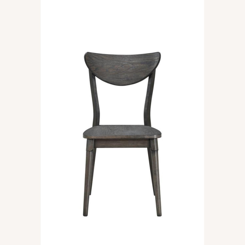Modern Side Chair In Dark Grey Wood - image-1
