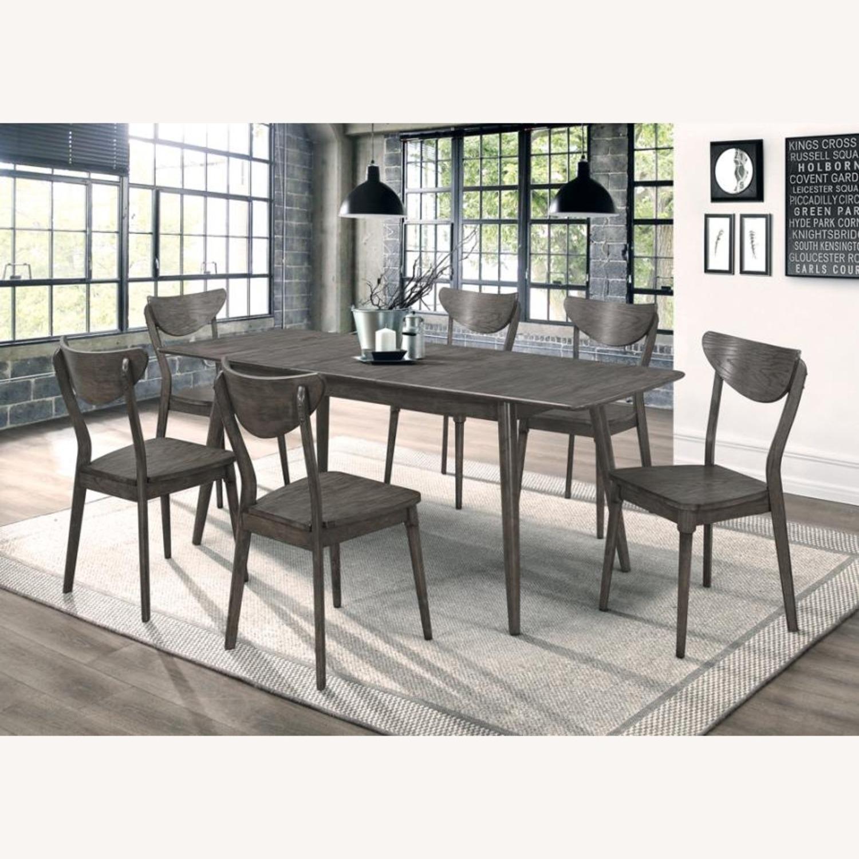 Modern Side Chair In Dark Grey Wood - image-4