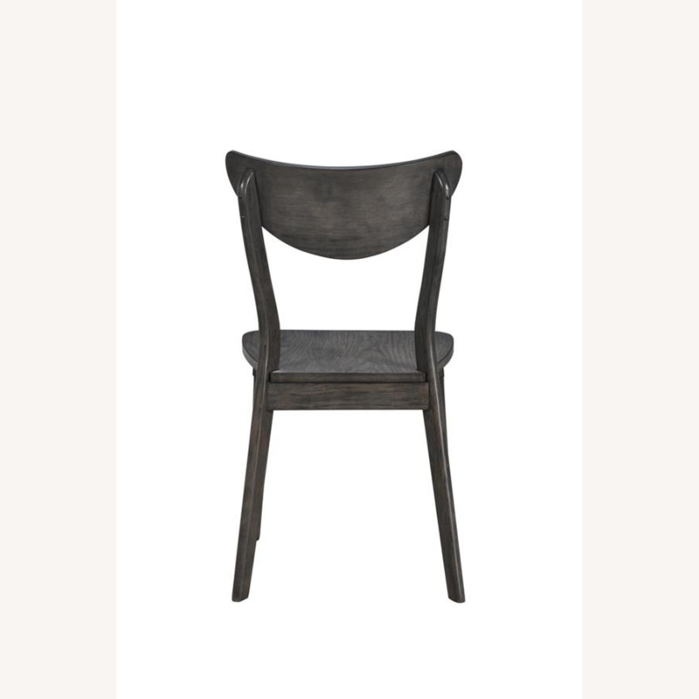 Modern Side Chair In Dark Grey Wood - image-2