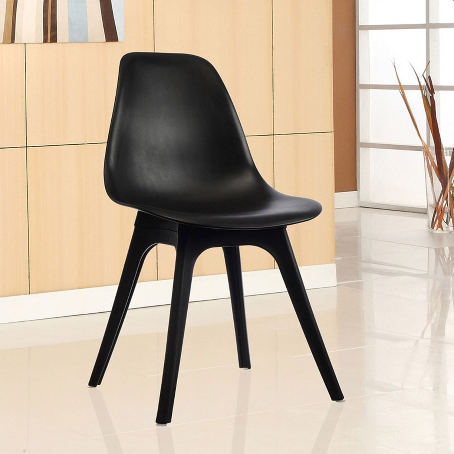 Side Chair In Black Color Finish - image-4