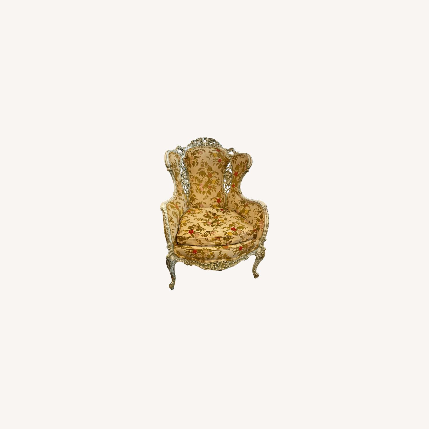 Antique French Louis XV armchair - image-0