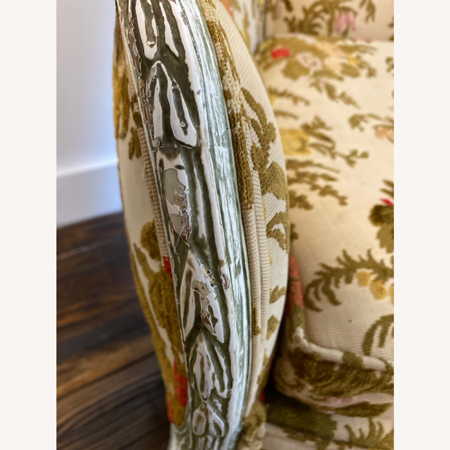 Antique French Louis XV armchair - image-4
