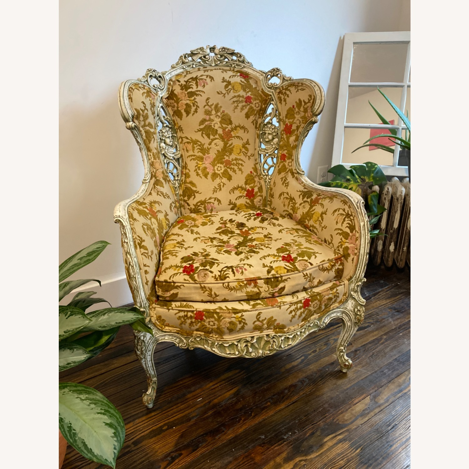 Antique French Louis XV armchair - image-1