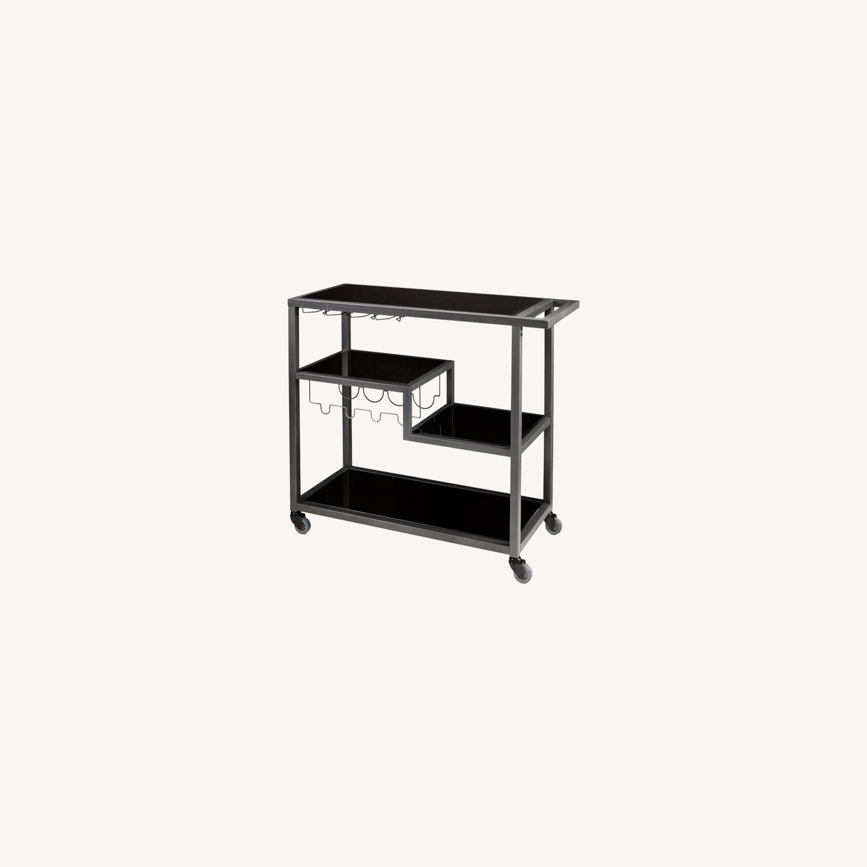 Mercury Row Grey/Black Aguila Bar Cart - image-0