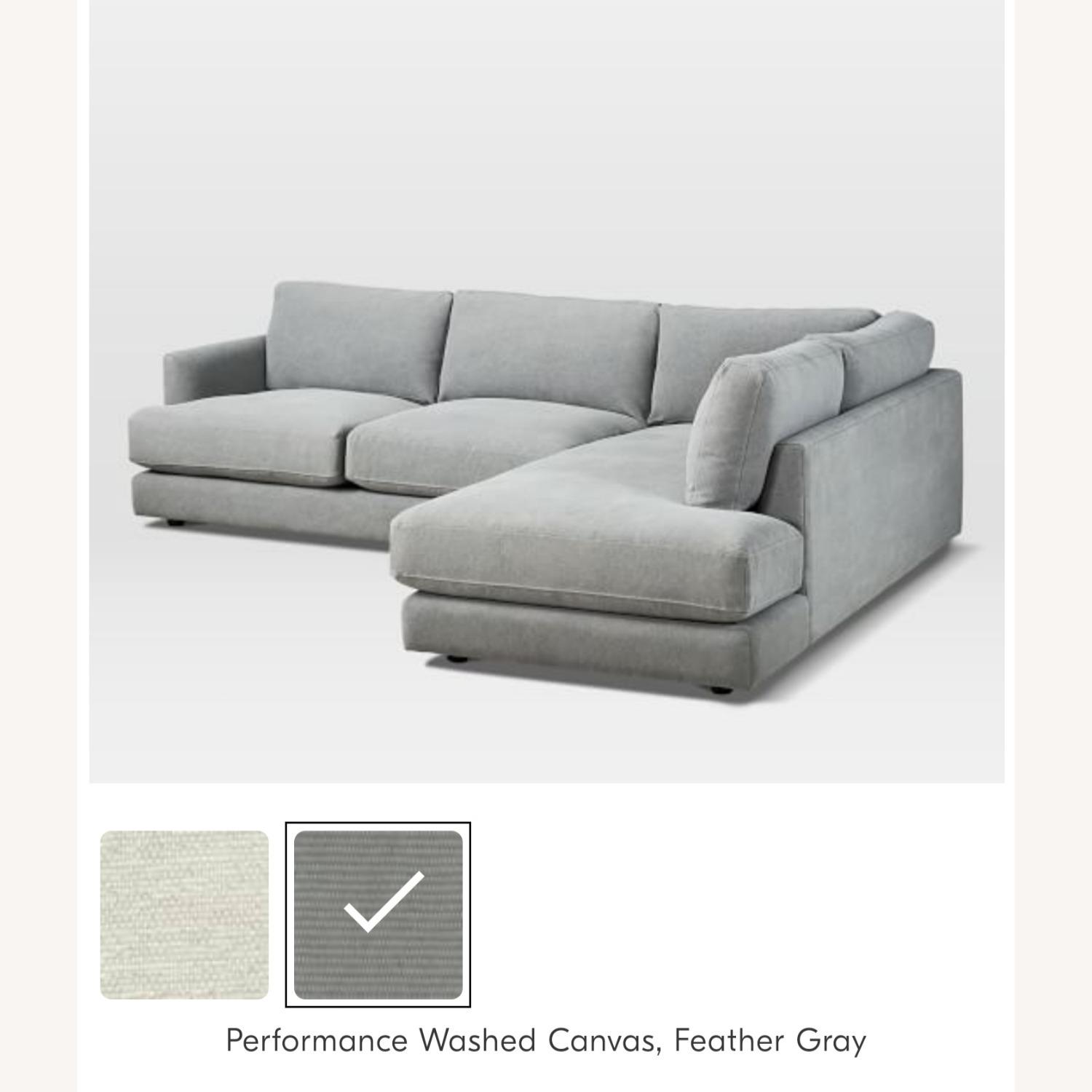 West Elm Haven Right 2-Piece Sectional - image-4
