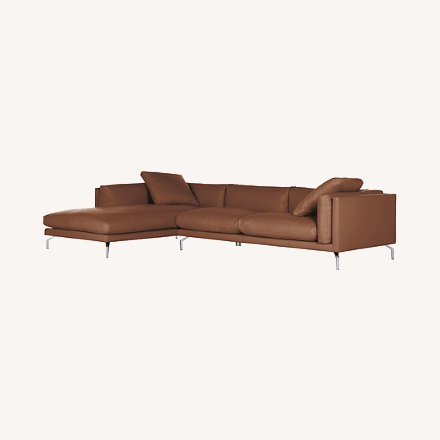 Design Within Reach Como Sectional Chase Leather - image-0