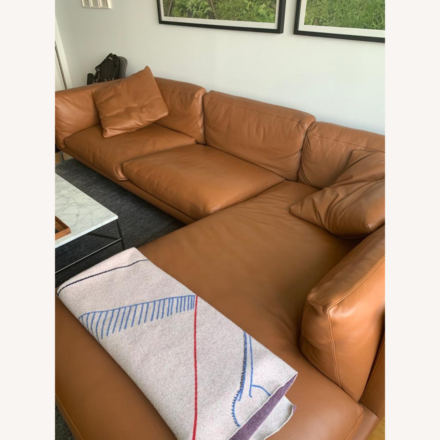 Design Within Reach Como Sectional Chase Leather - image-1