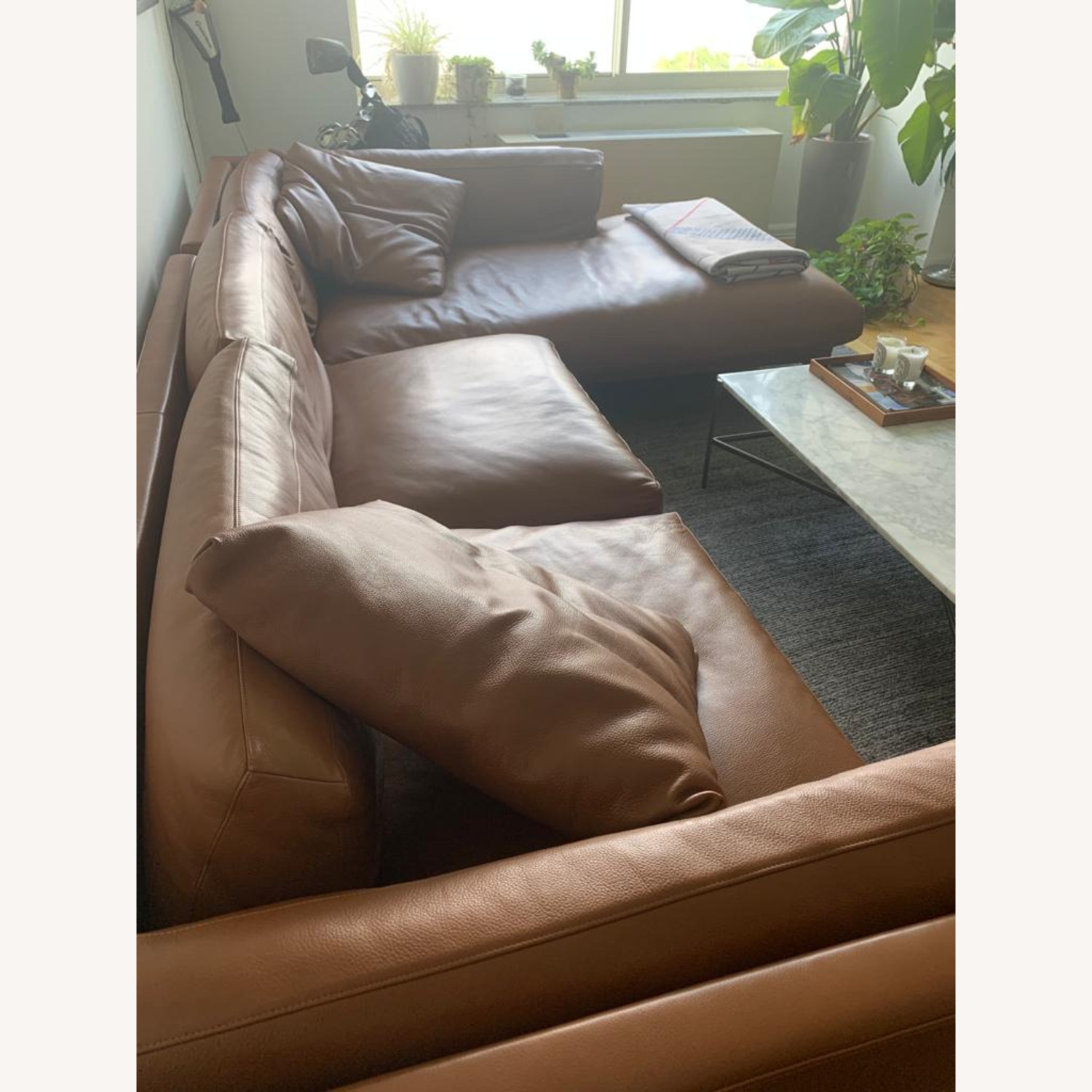 Design Within Reach Como Sectional Chase Leather - image-4