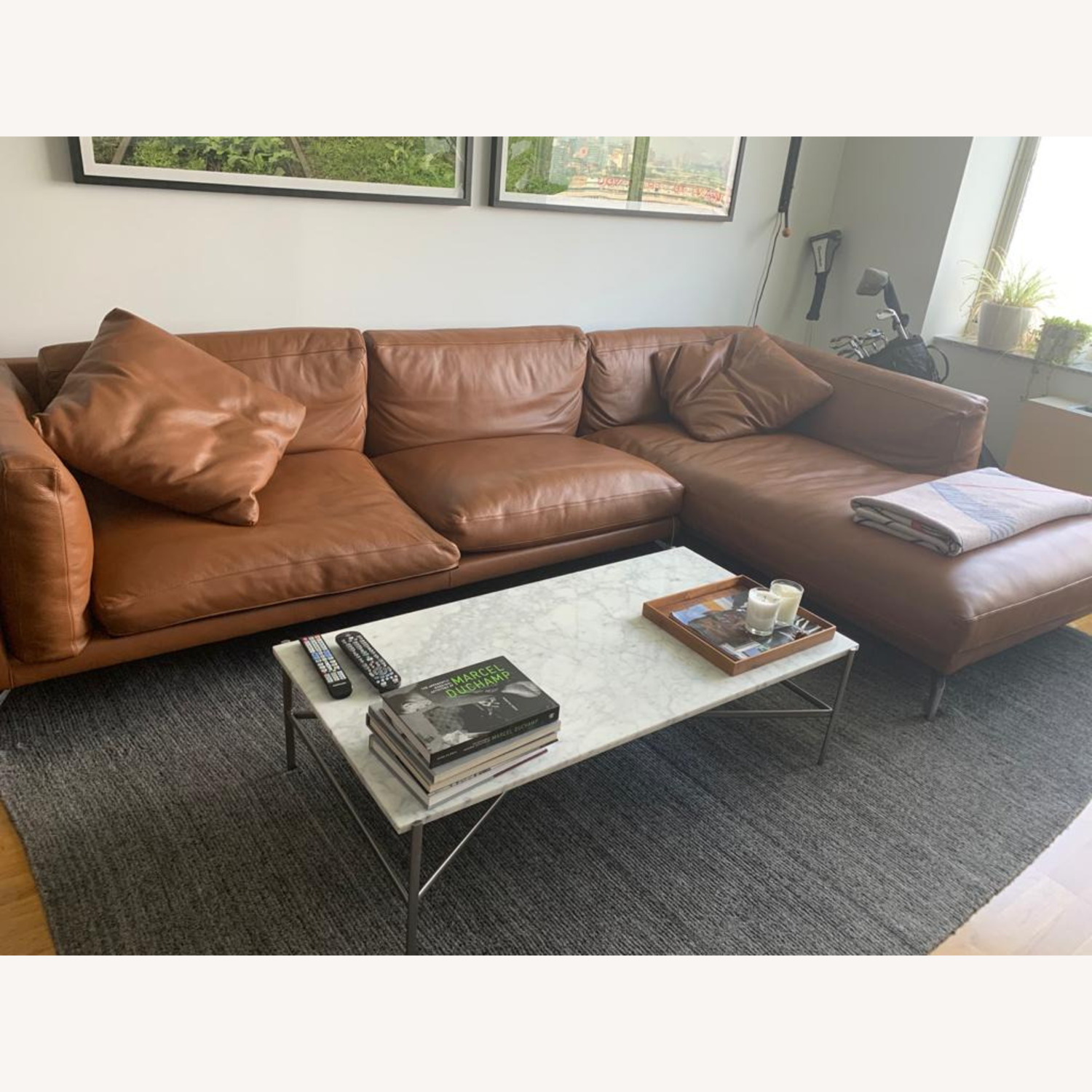 Design Within Reach Como Sectional Chase Leather - image-2