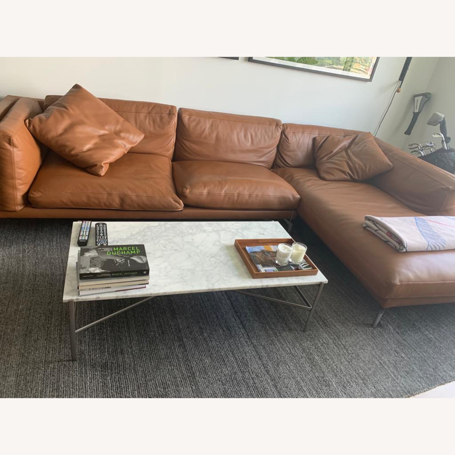 Design Within Reach Como Sectional Chase Leather - image-3