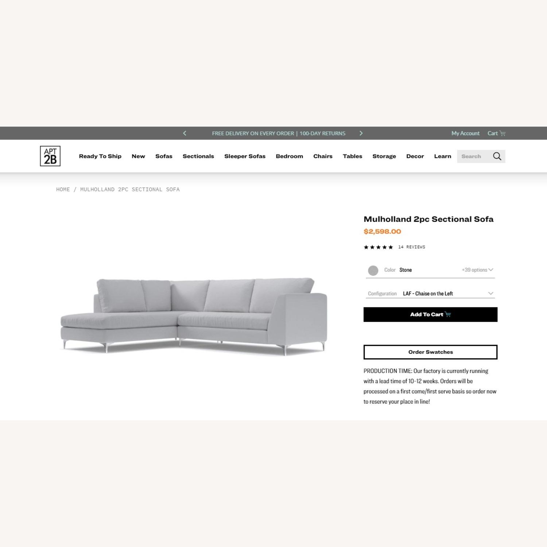 Mulholland 2pc Sectional Sofa - image-1
