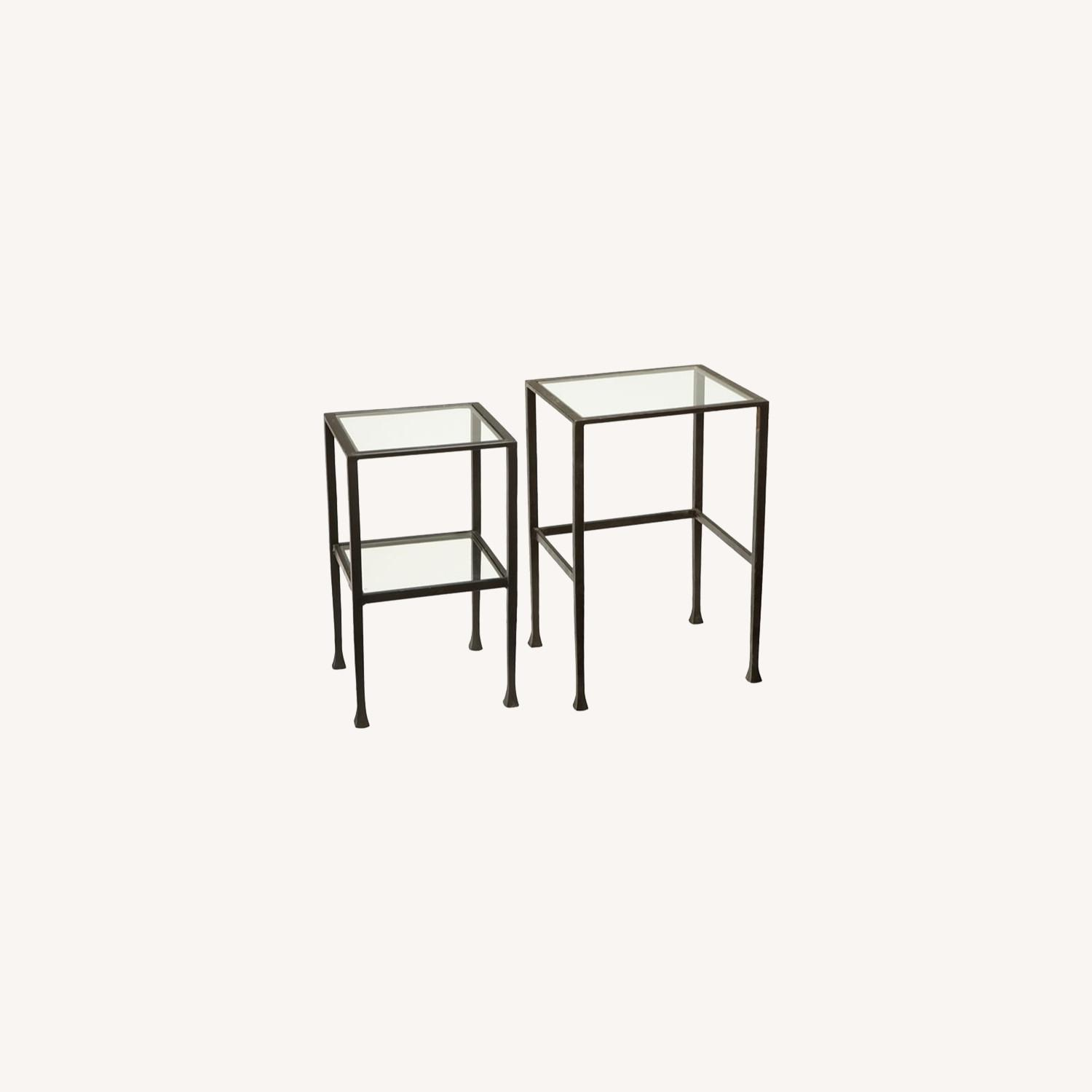 Pottery Barn Tanner Nesting End Tables - image-0