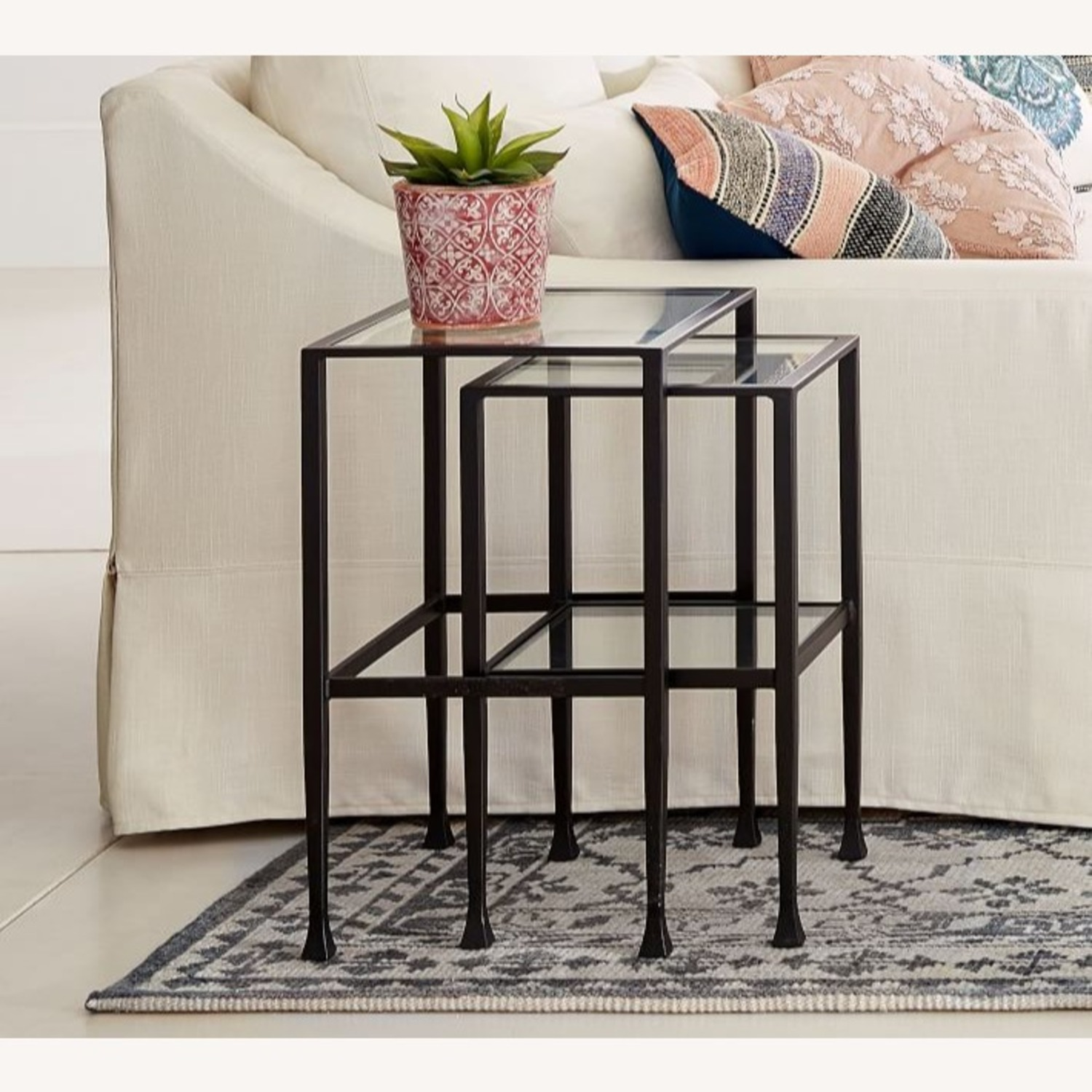 Pottery Barn Tanner Nesting End Tables - image-1