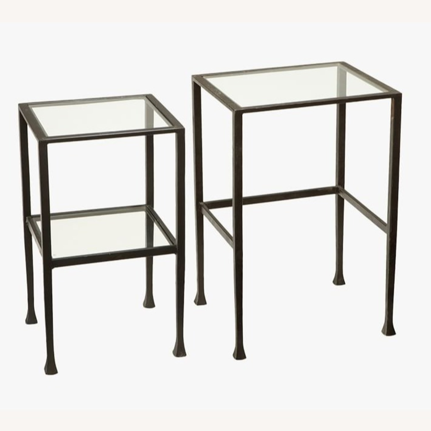 Pottery Barn Tanner Nesting End Tables - image-2