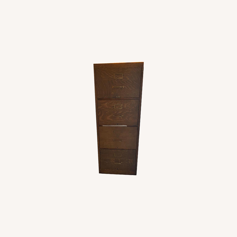 Oak Filing Cabinet - image-0