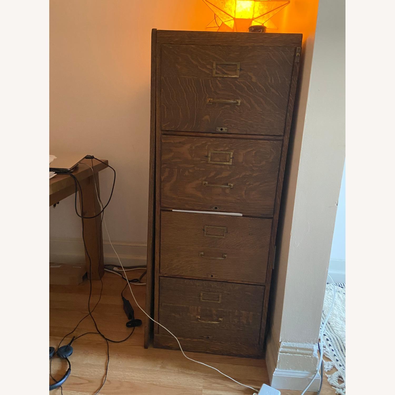 Oak Filing Cabinet - image-1