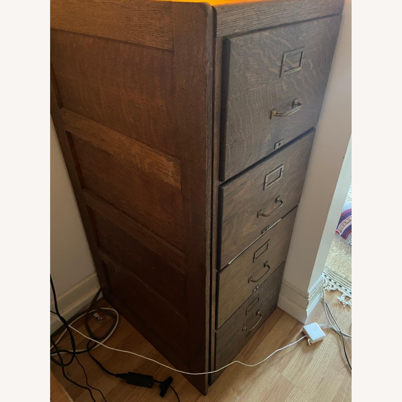 Oak Filing Cabinet - image-2