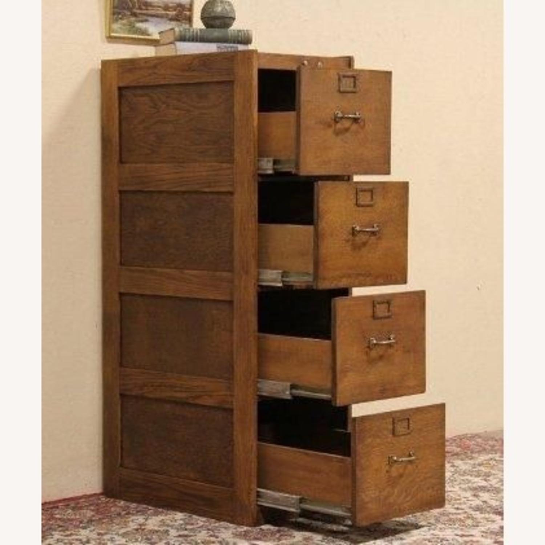 Oak Filing Cabinet - image-4