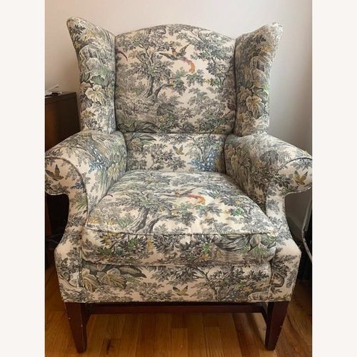 Used Anthropologie Wingback Upholstered Chair for sale on AptDeco