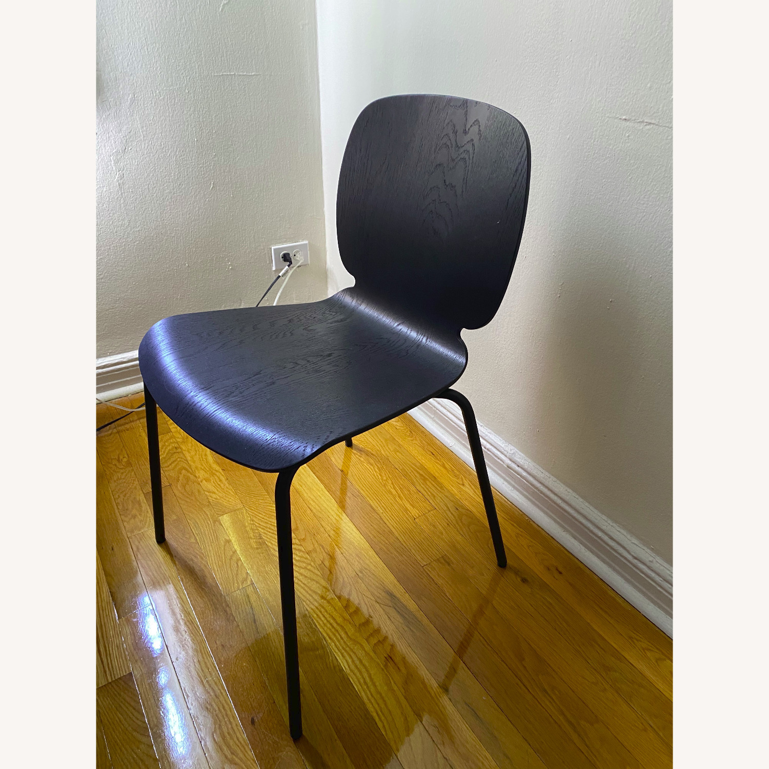 IKEA Black Dining Room Chairs - image-1