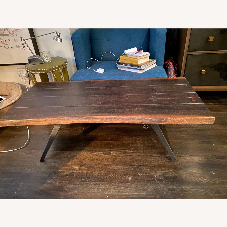 Vintage Reclaimed Wood Coffee Table - image-1