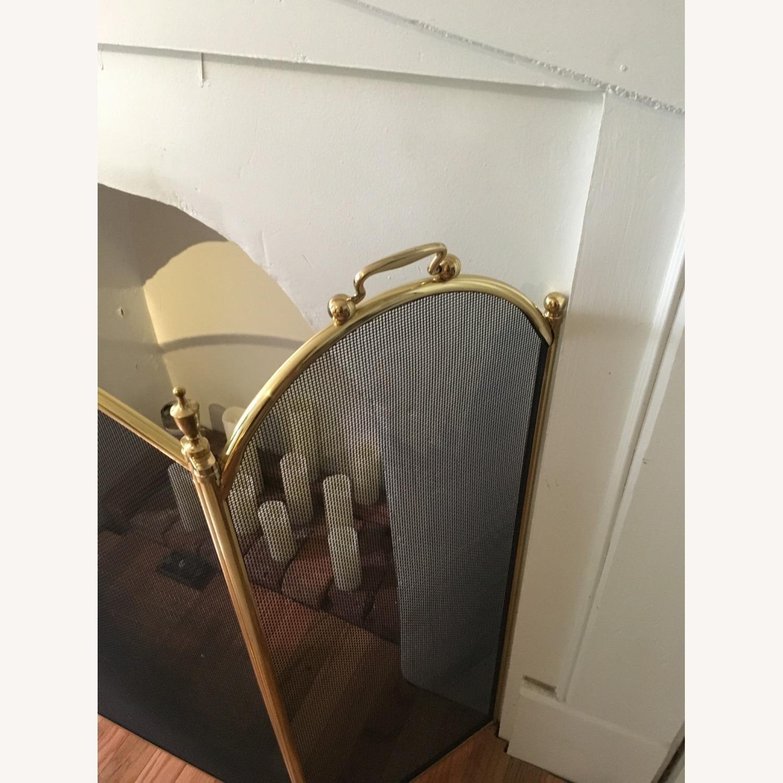 Vintage Brass Fireplace Screen - image-5